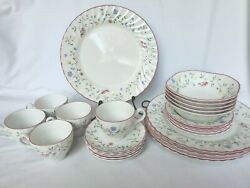 Johnson Brother Summer Chintz China 25 Pieces - 5 Total Place Settings Nice