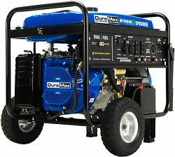 Duromax 8500-w Portable Dual Fuel Gas Powered Electric Start Generator Home Rv