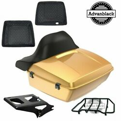 King Tour Pack Pad Black Hills Gold Black Hinges And Latch Fit Harley 1997-2020
