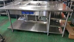Custom Stainless Steel Table W/built-in Lti 3 Well Hot/cold 78