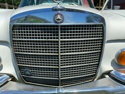 1971 Mercedes-benz 280 Se Front Grill With Radiator Cap And Hood Emblem