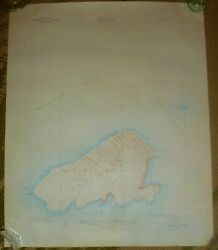 Vintage 1929/1947 Kahoolawe Geological Map Territory Of Hawaii By Us Dept Of Int