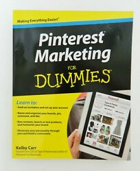 Pinterest Marketing for Dummies by Kelby Carr Paperback 2012