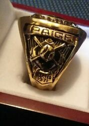 Satchel Paige American Negro League Mlb Hall Of Fame Induction Ring Sz 11 Rare
