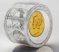 2013 Fortuna Redux Mercury 3d 50 Niue 6 Oz Silver Proof Cylinder Shaped Coin