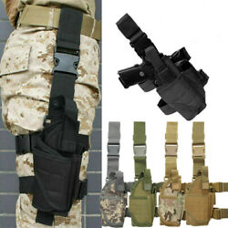 Right Drop Leg Adjustable Tactical Pistol Gun Thigh Holster Pouch Fits Full Size $21.99