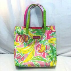 Estee Lauder Lilly Pulitzer Print Large Canvas Beach Tote Bag Brand $12.00