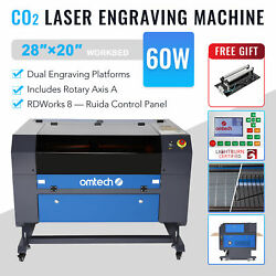 Omtech 60w 28x20in Ruida Co2 Laser Engraver Engraving Machine With Rotary Axis