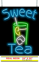 Sweet Tea Neon Sign   Jantec   24 X 30   Iced Tea Coffee Cafe Diner Southern