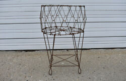 Collapsible Folding Wire Laundry Basket Store Display Adjustable Industrial