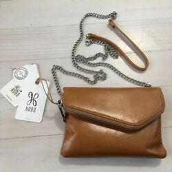 Hobo Daria Crossbody Clutch Purse Convertible Small Brown Leather NWT Caramel $34.99