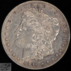 1891 Cc Morgan Silver Dollar Carson City Almost Uncirc Details Cleaned C4727