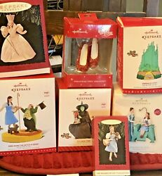 The Wizard Of Oz Hallmark Lot Of 7 Christmas Ornaments With Boxes Preowned