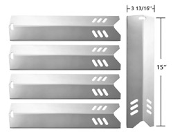 5 Pack-15 Stainless Steel Bbq Gas Grill Heat Plate Shield Tent Replacement For.