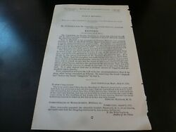Government Report 1892 Steven Mitchell 5th Battery Maine Volunteers Civil War