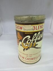 Vintage Advertising Caswell Blend 3 Lb Coffee Tin Can Collectible 71-