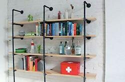 Vintage Industrial Style Metal Pipe 4 Shelf Frame 56 Tall Great Decor 3 Pcs