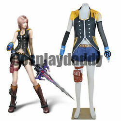 Final Fantasy Xiii Serah Farron Style And Steel Ver. Outfit Cosplay Costume@