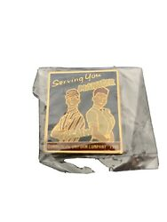 Vintage 1990 Mcdonalds Serving You Manager And Crew Acrylic Pin Brand New