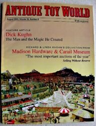 Antique Toy World Magazine August 2003 Dick Kughn Cast Iron Trains Indian Chief