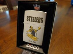 Pittsburgh Steelers Throwback Retro Zippo Lighter Vintage Design Nfl Mint In Box