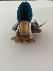 🔥🔥super Rare Ty Original Retired Jake The Duck Beanie Baby April 16th 1997