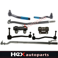 8pc Drag Link Inner Tie Rod Linkage For Ford Excursion F-250 Super Duty 4x4