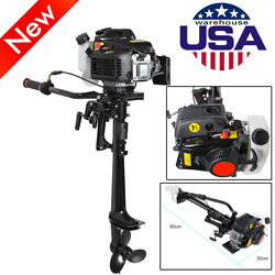 4 Stroke 1 Cylinder 3.6 Hp Outboard Motor 55cc Boat Engine With Air Cooling Tool