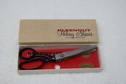 Vintage Kleencut Pinking Shears With The Automatic Stop, Original Box