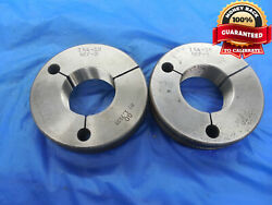 1 3/4 18 Nef 3 Thread Ring Gages 1.75 Go No Go P.d.and039s = 1.7139 And 1.7099 Unef-3