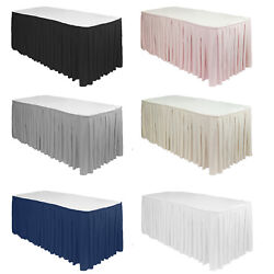 Ycc Linens - Polyester Pleated Table Skirts For Weddings And Special Events