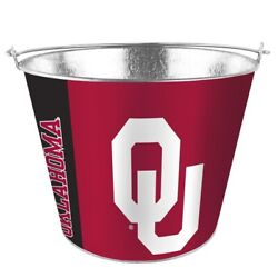 Oklahoma Sooners 5 Quart Metal Bucket Hype Pail Bbq Drinks Party Game