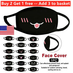 Cute Funny Printed Face Masks for Men Women Windproof Mask Washable Breathable $5.26