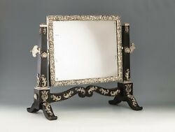 Antique Viennese Silver Table Mirror - Hd Pictures