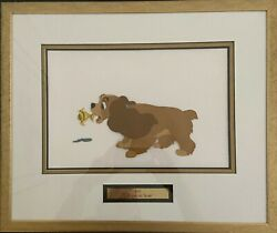 Lady And The Tramp Framed Hand Painted Production Cel Featuring Lady