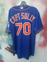 Capt. Sully Sullenberger 2013 New York Mets Authentic Mlb Size 48 Jersey
