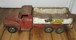 Antique Vtg 1950s Pressed Steel Buddy L Ford Repair It Wrecker Tow Truck Parts