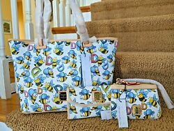 Dooney And Bourke Bumble Bee 🐝 Leisure Shopper W/ Wristlet And Continental Wallet