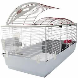 Nice Rabbit Cage House Large 46 X 22 X 24' Water Bottle Hay Rack Food Dish