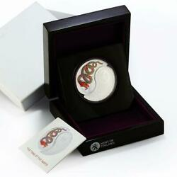 Fiji 1 Dollar Two Coins Set Year Of The Snake Yin And Yang Silver Coloured 2013