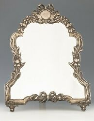 Antique Viennese Silver Secession Mirror - Hd Pictures