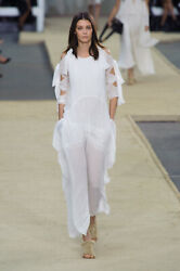Chloe Cutout Tie Sleeves White Gown  - NEW