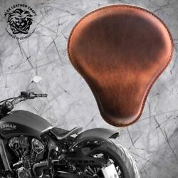 Seat + Mounting Plate Indian Scout Since 2017 Vintage Brown Size Xl