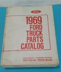 1969 Ford Truck Parts Catalog Manual Bookfd7753-69dearborn Michigan1679 Pages
