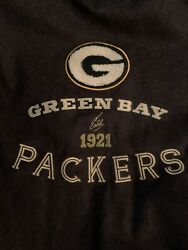 Rare Tommy Bahama Green Bay Packers Nfl Leather Bomber Jacket Large Nwt 853/1710