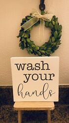 Wash Your Hands Wood Sign • Farmhouse Sign • Bathroom Sign • Funny Signs