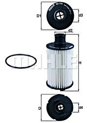 Mahle Oil Filter For Jaguar Land Rover F-pace F-type Convertible Coupe C2d3670