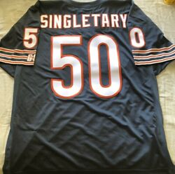 Mike Singletary Chicago Bears 1991 1992 Final Seasons Stitched Navy Blue Jersey
