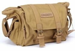 US Canvas Camera Bag Shockproof Crossbody Messenger For Sony Nikon Canon SLR $25.75