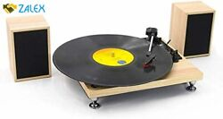 Vinyl Record Player With Powerful External Speakers 3 Speed Belt-driven Wooden V